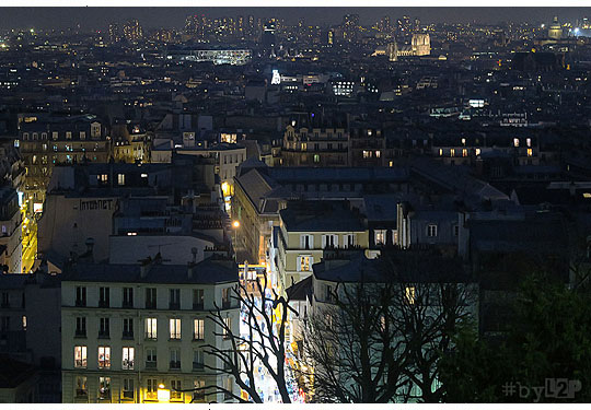 Paris by night from Montmartre